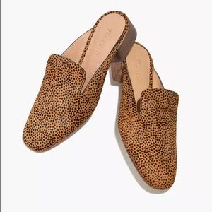 Madewell Willa loafer mule in spotted calf size 8